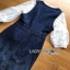 Lady ribbon Leslie Smart Printed Denim Dress thumbnail 7