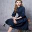 Black Dress dress. สีดำ ผ้า cotton แขนยาว thumbnail 4