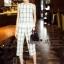 Lady Ribbon Online เสื้อผ้าออนไลน์ขายส่ง Normal Ally เสื้อผ้า NA12180816 &#x1F389Normal Ally Present casual summer scoth set&#x1F389 (เสื้อ + กางเกง , มีซับใน) thumbnail 5