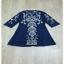 เสื้อเชิ้ตผ้าคอตตอนดอกไหมแฟชั่นสีครีมทอง thumbnail 6
