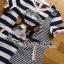 LR05290816 &#x1F380 Lady Ribbon's Made &#x1F380 Lady Kara Playful Mixed Striped Kitty Cat Embroidered Dress thumbnail 5
