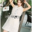 Lady Ribbon White Lace Shirt Dress เชิ้ตเดรส thumbnail 1