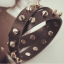 A78 - สร้อยข้อมือ,กำไลข้อมือ,กำไล,สร้อยข้อมือทอง,กำไลทอง,เครื่องประดับ PU leather punk style multi-layer winding leather bracelet thumbnail 5