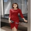 Slim Dress แฟชั่นเกาหลีเดรสผ้าลูกไม้ thumbnail 3