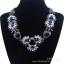 y1479 - สร้อยหิน สร้อยคอ สร้อยหินนำโชค เครื่องประดับ crystal diamond flower thumbnail 1