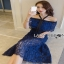 Lady Ribbon Black & Blue Lace Dress thumbnail 3