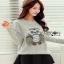 Lady Owl Fur Sweater เสื้อสเวตเตอร์ขนเฟอร์ thumbnail 4