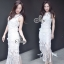 Sevy Fabulous Valentino Lace Sleeveless Tassel Midi Dress thumbnail 3