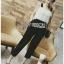 Black Crepe Jumpsuit Lady Ribbon ขายจัมป์สูท thumbnail 4