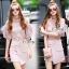 Lady Ribbon Online ขายส่งเสื้อผ้าออนไลน์ เสื้อผ้า Sevy SV03040816 &#x1F389Sevy Two Pieces Of Blouse Lace With Skirt (Sets) Type: Blouse+Skirt (Sets) thumbnail 1
