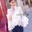 Lady Ribbon Lace Blouse เสื้อผ้าลูกไม้แขนบาน thumbnail 3