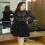 เสื้อผ้าแฟชั่นเกาหลีCliona Winter Black Lace Dress เดรสแขนยาวโทนขาวดำ thumbnail 1