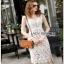 Guipure Lady Ribbon Lace Dress ขายเดรสผ้าลูกไม้ thumbnail 4