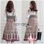 Printed Viscose Dress Set เซ็ตเสื้อลูกไม้สีขาวสไตล์เฟมินีน thumbnail 2