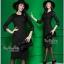 ชุดเดรสออกงานสีดำงานสวยค่ะ เสื้อผ้าเกาหลีเนื้อผ้า thumbnail 1