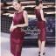 Lady Ribbon Online เสื้อผ้าออนไลน์ขายส่ง very very pretty เสื้อผ้า VP02140816 Luxury Sleeveless Lace Slim Dress By vvp เดรสแขนกุด เนื้อผ้าลูกไม้เกาหลี ลายลูกไม้ซีทรูเนื้อนิ่ม thumbnail 1