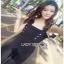 Lady Ribbon Yves Studded Belt-Strap Black Crepe Jumpsuit thumbnail 3
