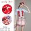 ST05310716 &#x1F340สินค้าพร้อมส่ง&#x1F340 한국에 의해 설계된 2sister made, Unity of the Vintage Red & Blue Korea Cuties Set thumbnail 2
