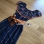 Jumpsuit with Silk Satin Belt Lady Ribbon จัมป์สูทผ้าเครป thumbnail 6
