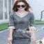 Seoul Secret Diamond Denim Dress งานสวยเก๋ด้วยเนื้อผ้ายีนส์ฟอกสีดำ thumbnail 2