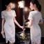 เสื้อผ้าลูกไม้แฟชั่นเกรดดีเกาหลีสีขาว thumbnail 3