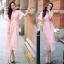 เสื้อผ้าลูกไม้กระโปงแฟชั่นเกาหลีสีชมพู thumbnail 2