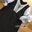 Lady Ribbon Mini Dress with Ribbon มินิเดรสสีดำ thumbnail 4