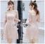 Lady Ribbon Mini Dress มินิเดรสผ้าทูลเลสีชมพู thumbnail 4