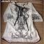 Miami Beach Embroidery Lady Ribbon Chiffon Dress thumbnail 4