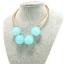 w1374 - สร้อยหิน สร้อยคอ สร้อยหินนำโชค เครื่องประดับ green round crystal beaded necklace thumbnail 1