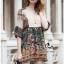 Lady Ribbon Online ขายส่งเสื้อผ้าออนไลน์ Very very pretty เสื้อผ้า VP05100816 Smart Vintage community Printed Blouse thumbnail 3