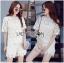 Lady Ribbon Online ขายส่งเสื้อผ้าออนไลน์ ขายส่งของแท้พร้อมส่ง Lady Ribbon LR16250716 &#x1F380 Lady Ribbon's Made &#x1F380 Lady Patricia Pretty Cute Daisy Embroidered Set thumbnail 1