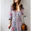 Lady Ribbon Maxi Dress เดรสยาวผ้าเครปสีฟ้า thumbnail 3