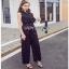 Lady Ribbon Black and White Polkadot Jumpsuit จัมป์สูทผ้าเครป thumbnail 2