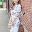 Lady Ribbon Online เสื้อผ้าออนไลน์ขายส่ง Lady Ribbon เสื้อผ้า LR03180816 &#x1F380 Lady Ribbon's Made &#x1F380 Lady Serena Smart Feminine Embroidered Cotton Dress thumbnail 1