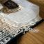 Lady Ribbon Crochet Navy Sleeveless Blouse thumbnail 5
