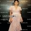 Lady Ribbon Pink Lace Dress with Organza Ruffle thumbnail 1