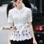 Lady Ribbon Online เสื้อผ้าออนไลน์ขายส่ง Normal Ally เสื้อผ้า NA16150816 &#x1F389Normal Ally Present elegant premium shirt and boutique pant&#x1F389 (เสื้อ + กางเกง+ เชือกคาดเอว, มีซับในอย่างดีทั้งชุด) thumbnail 2