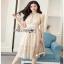 Classic Elegant Lace Dress Lady Ribbon เดรสผ้าคลาสสิก thumbnail 1