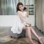 เสื้อแฟชั่นเกาหลีแขนกุดสีขาวแต่งโครเช thumbnail 7