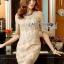 Lady Ribbon Online ขายส่งเสื้อผ้าออนไลน์ เลดี้ริบบอน LR16280716 &#x1F380 Lady Ribbon's Made &#x1F380 Lady Kate Elegant Chic Gold and Pink Lace Dress เดรสผ้าลูกไม้สี thumbnail 3