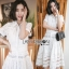 Lady Ribbon Sweet White Lace Shirt Dress thumbnail 1