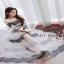 Lady RIbbon Mandy Sexy Elegant Striped Lace and Tulle Dress thumbnail 2