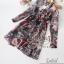 2Sister Made, 2 Premium Black Vintage Style Korea Fashion เดรสลุคสบายๆ เนื้อผ้าchiffonพริ้วใส่สบาย thumbnail 7