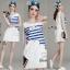 Lady Ribbon Online เสื้อผ้าออนไลน์ขายส่ง Normal Ally เสื้อผ้า,NA03220816 &#x1F389Normal Ally Present summer cloud print casual dress&#x1F389 (เดรส ,ซับในอย่างดีทั้งชุด) thumbnail 1