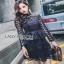 Lady Ribbon Lace Paneled Dress เดรสผ้าลูกไม้ลายดาว thumbnail 2