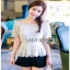 Lady Ribbon Lace Blouse with Ribbon ขายส่งเสื้อผ้า thumbnail 2