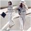 Lady Ribbon Online ขายส่งเสื้อผ้าออนไลน์ เลดี้ริบบอน LR03280716 &#x1F380 Lady Ribbon's Made &#x1F380 Lady Leslie Lace Embroidered Jersey and grey Culottes Set เซ็ตเสื้อ thumbnail 3