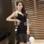Lady Ribbon Online เสื้อผ้าแฟชั่นออนไลน์ขายส่ง เลดี้ริบบอนของแท้พร้อมส่ง sevy เสื้อผ้า SV05240716 &#x1F389Sevy V Curve Mesh Sleeveless Sexy Dress thumbnail 4