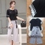 Lady Ribbon Online เสื้อผ้าออนไลน์ขายส่ง Normal Ally เสื้อผ้า,NA02220816 &#x1F389Normal Ally Present cusual shirt and pant and asia style belt&#x1F389 (เสื้อ + กางเกง, เข็มขัด) thumbnail 6